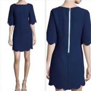 NEW SAIL TO SABLE SCALLOPED DRESS
